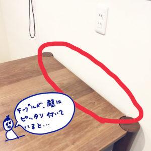テーブルの上を片付けたい